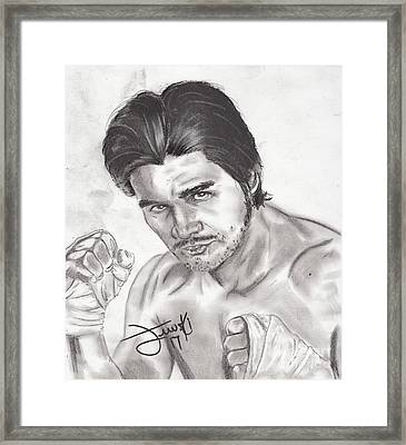 Hands Of Stone Framed Print by Michael Majewski
