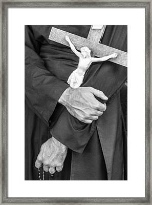 Hands Of The Cross Framed Print by Steven Bateson