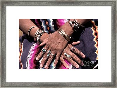 Hands Of The Earth Framed Print by Linda  Parker
