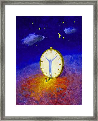 Hands Of Time Framed Print by Andrew Judd