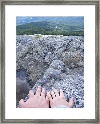Hands On The Mountaintop Framed Print by Alison Heckard