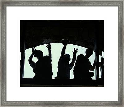 Hands On Work Framed Print by Ken Gimmi