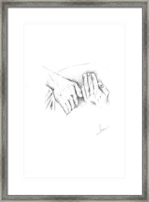 Hands Framed Print by Reza Naqvi