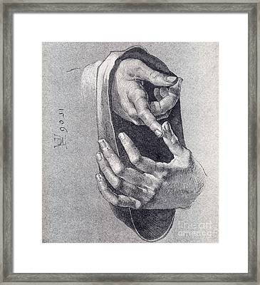 Hands  Study Framed Print by Pg Reproductions