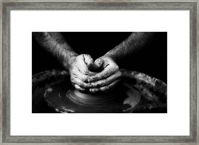 Hands That Form Framed Print by Quino Al