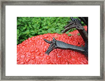 Hands Tree Framed Print by Jessica Rose