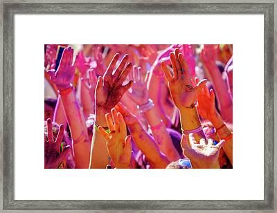 Hands Up-2 Framed Print