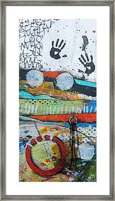 Hands Up In The Sky Framed Print