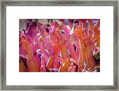 Hands Up Framed Print by Okan YILMAZ