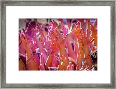 Hands Up Framed Print