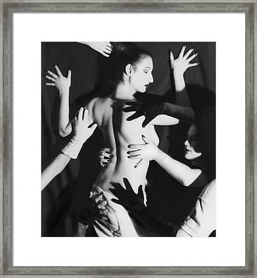Hands Upon Me Framed Print by Jaeda DeWalt