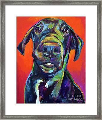 Handsome Hank Framed Print