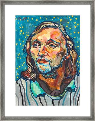 Handsome Man Framed Print by Vitali Komarov