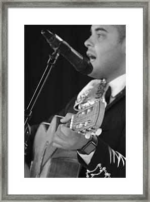 Handsome Mariachi Guitar Player  Framed Print