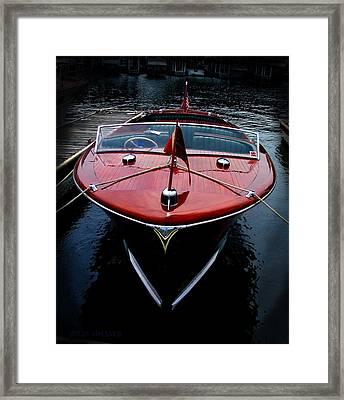 Handsome Wooden Boat Framed Print