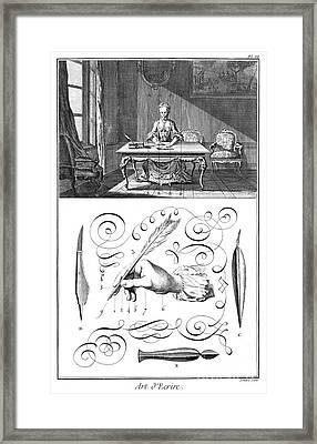 Handwriting, 18th Century Framed Print by Granger