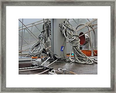 Handy Halyards Framed Print by Laura Ragland