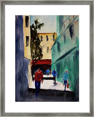 Hang Ah Alley1 Framed Print by Tom Simmons