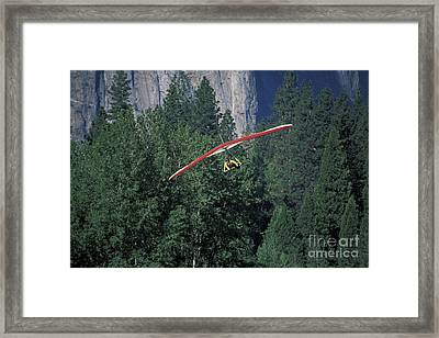 Framed Print featuring the photograph Hang Glider In Yosemite by Stan and Anne Foster