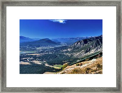 Hang Gliders Point Of View Framed Print