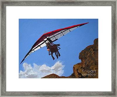 Hang Gliding Donkey Framed Print by Kerri Ertman