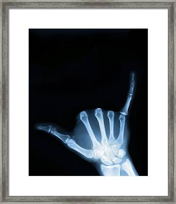 Hang Loose Framed Print by Gravityx9 Designs