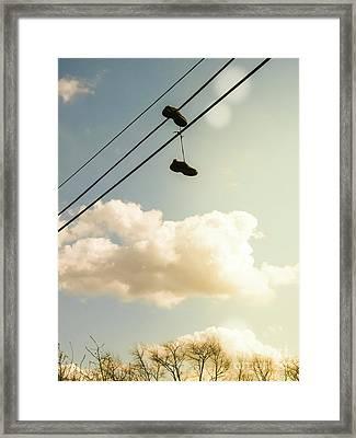 Hang On Framed Print by Colleen Kammerer
