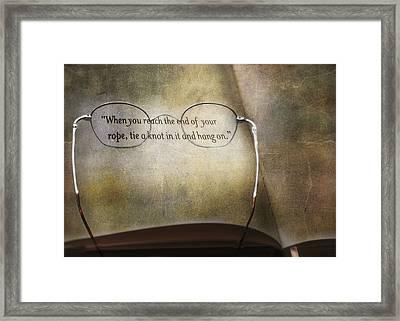 Hang On Framed Print by Steven  Michael