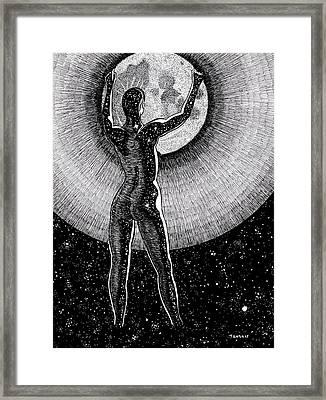 Hang The Moon Framed Print