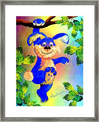 Hang With Me Bunny Framed Print by Hanne Lore Koehler