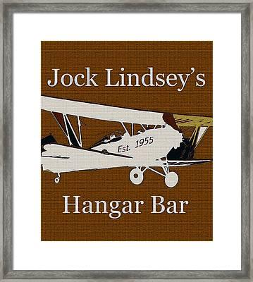 Hangar Bar Art Sign Vintage Framed Print by David Lee Thompson