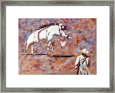 Hangin On Framed Print by Don Harvie