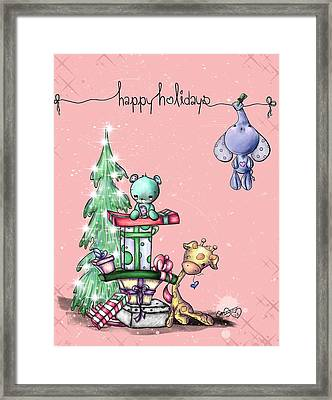 Hanging Around For The Holidays Framed Print