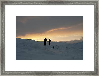 Framed Print featuring the photograph Hanging Around Iceland by Dubi Roman