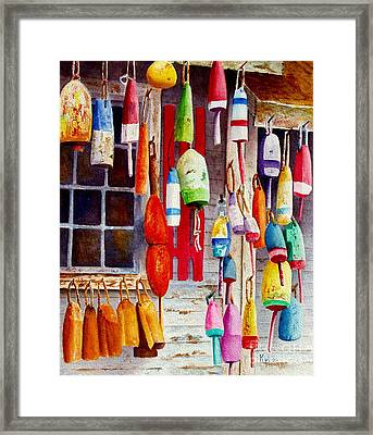 Hanging Around Framed Print by Karen Fleschler