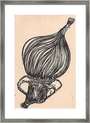 Hanging Basket Framed Print by Al Goldfarb