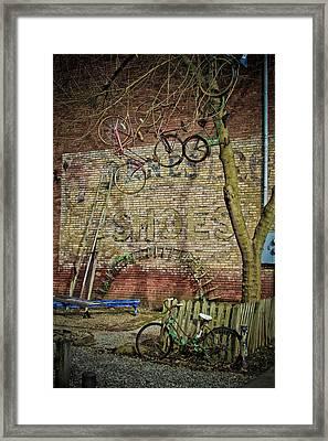 Hanging Bikes Framed Print