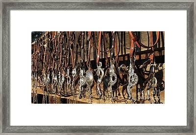 Hanging Bits Framed Print