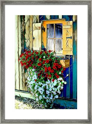 Framed Print featuring the digital art Hanging Gardens by Pennie  McCracken