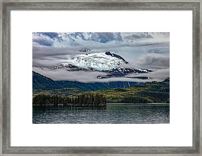 Hanging Glacier Framed Print