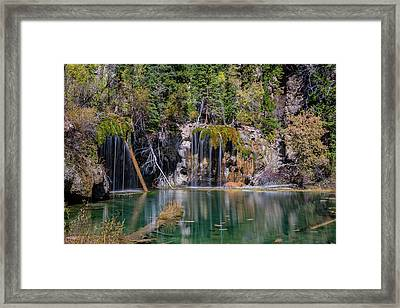Framed Print featuring the photograph Hanging Lake by Chuck Jason