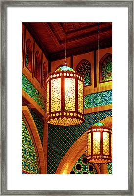 Hanging Lanterns Framed Print by Farah Faizal