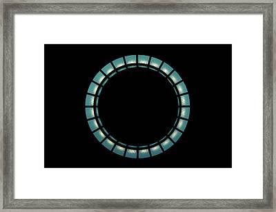 Hanging Light Circle Framed Print