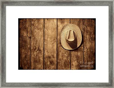 Hanging My Hat Framed Print