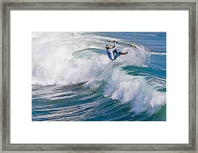 Framed Print featuring the photograph Hanging On by Ron Dubin