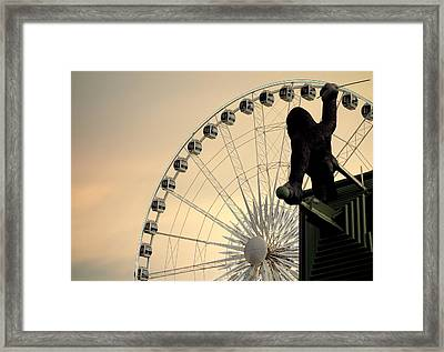 Framed Print featuring the photograph Hanging On The Wheel by Valentino Visentini