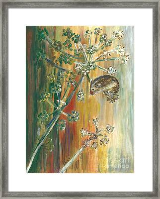 Hanging On - Painting Framed Print by Veronica Rickard