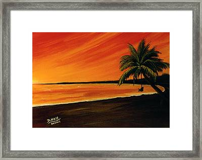 Hanging Out At The Beach #153 Framed Print by Donald k Hall