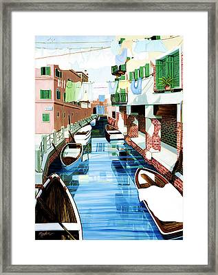 Hanging Out In Venice Framed Print by Mary Grden's Baywood Gallery
