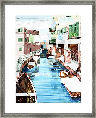 Hanging Out In Venice - Prints From My Original Oil Painting Framed Print